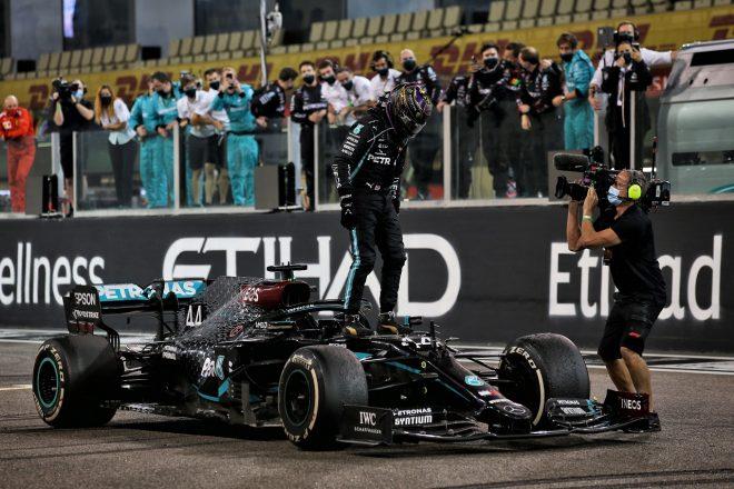 2020年F1第17戦アブダビGP ルイス・ハミルトン(メルセデス)が3位を獲得