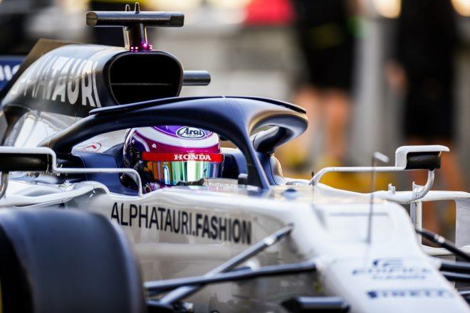 2020年F1アブダビテスト アルファタウリAT01・ホンダで走行する佐藤万璃音