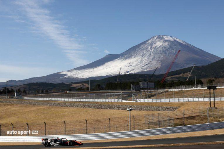 国内レース他   寒ッ! 厳寒の富士でのスーパーフォーミュラ・ライツ専有走行でドライバーから思わぬ悲鳴
