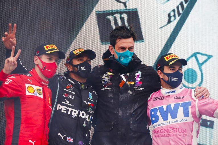 F1 | ハミルトン、2021年のレッドブル・ホンダF1を警戒「ペレスの加入でますます手ごわいライバルになる」