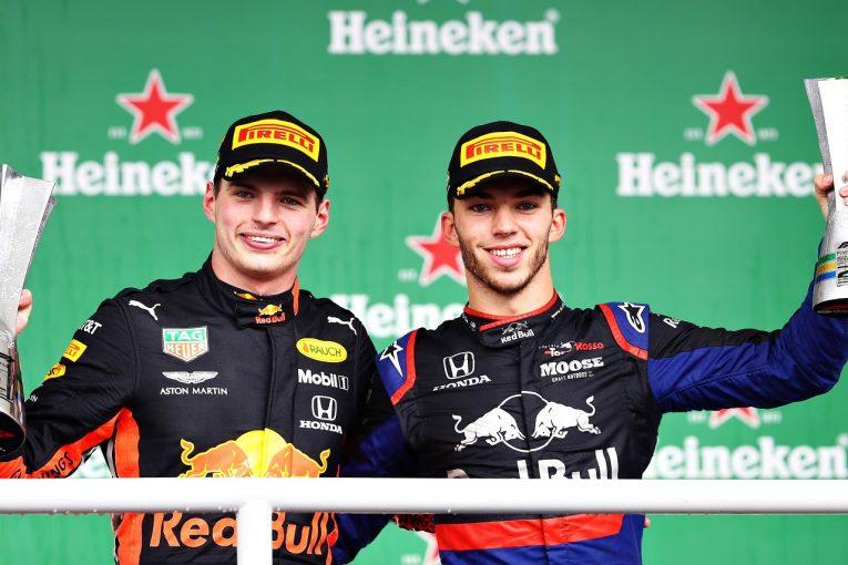 F1   アルファタウリ・ホンダF1のガスリー、自身の成長を実感「今ならフェルスタッペンに挑める」