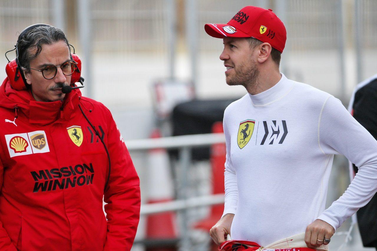 セバスチャン・ベッテルとフェラーリのスポーティングディレクターであるローレン・メキース