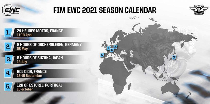 MotoGP   EWC:2021年シーズンの暫定カレンダー発表。鈴鹿8耐は7月18日に第3戦として開催