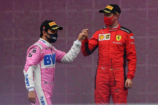 セルジオ・ペレス(レーシングポイント)&セバスチャン・ベッテル(フェラーリ)