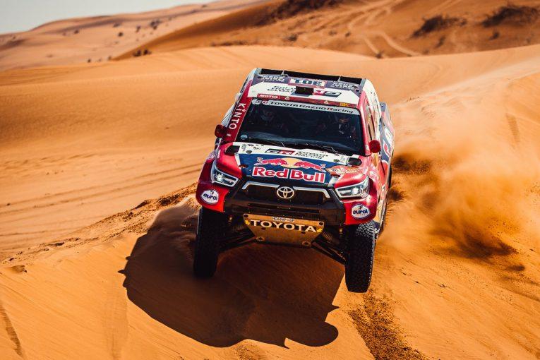 ラリー/WRC   ダカールラリー:ハイラックスで参戦のトヨタ、2019王者アル-アティヤが総合2番手で後半戦へ