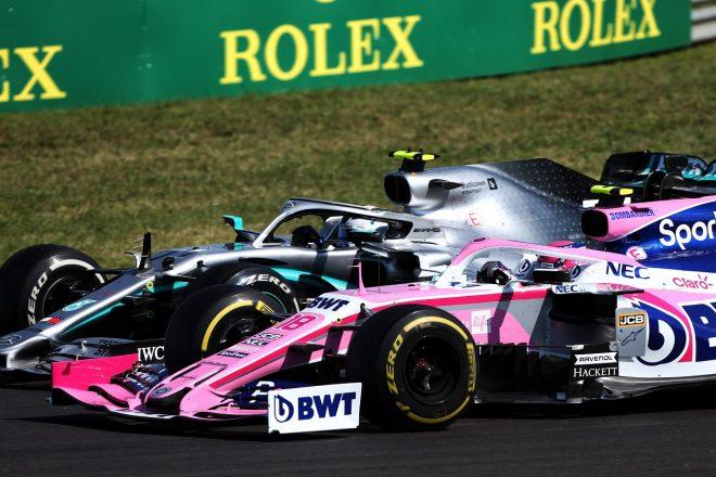 2020年F1ハンガリーGP バルテリ・ボッタス(メルセデス)とランス・ストロール(レーシングポイント)