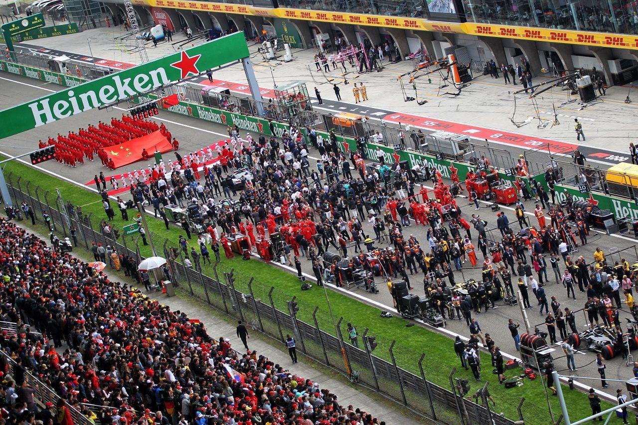 2019年F1中国GP 決勝前のグリッド