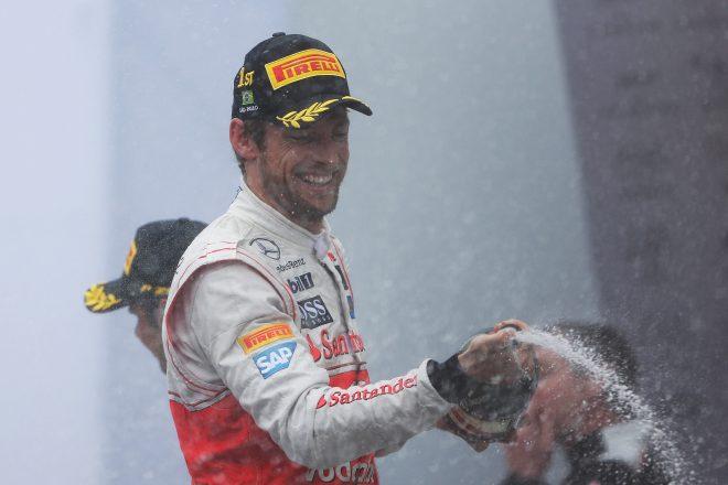 2012年F1ブラジルGPで優勝したバトン