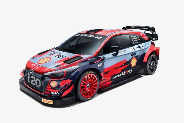 ラリー/WRC   ヒュンダイ、i20クーペWRCの2021年カラーリングを発表。新形状のカナード装着