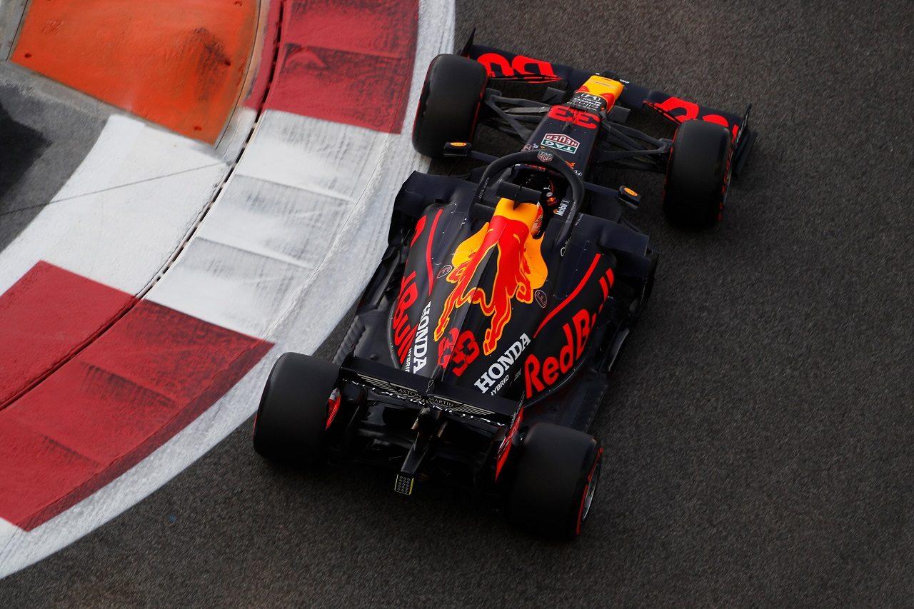 2020年F1第17戦アブダビGP マックス・フェルスタッペンのレッドブルRB16・ホンダ