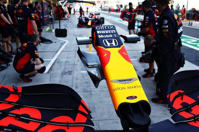 2020年F1第17戦アブダビGP レッドブルRB16のノーズ