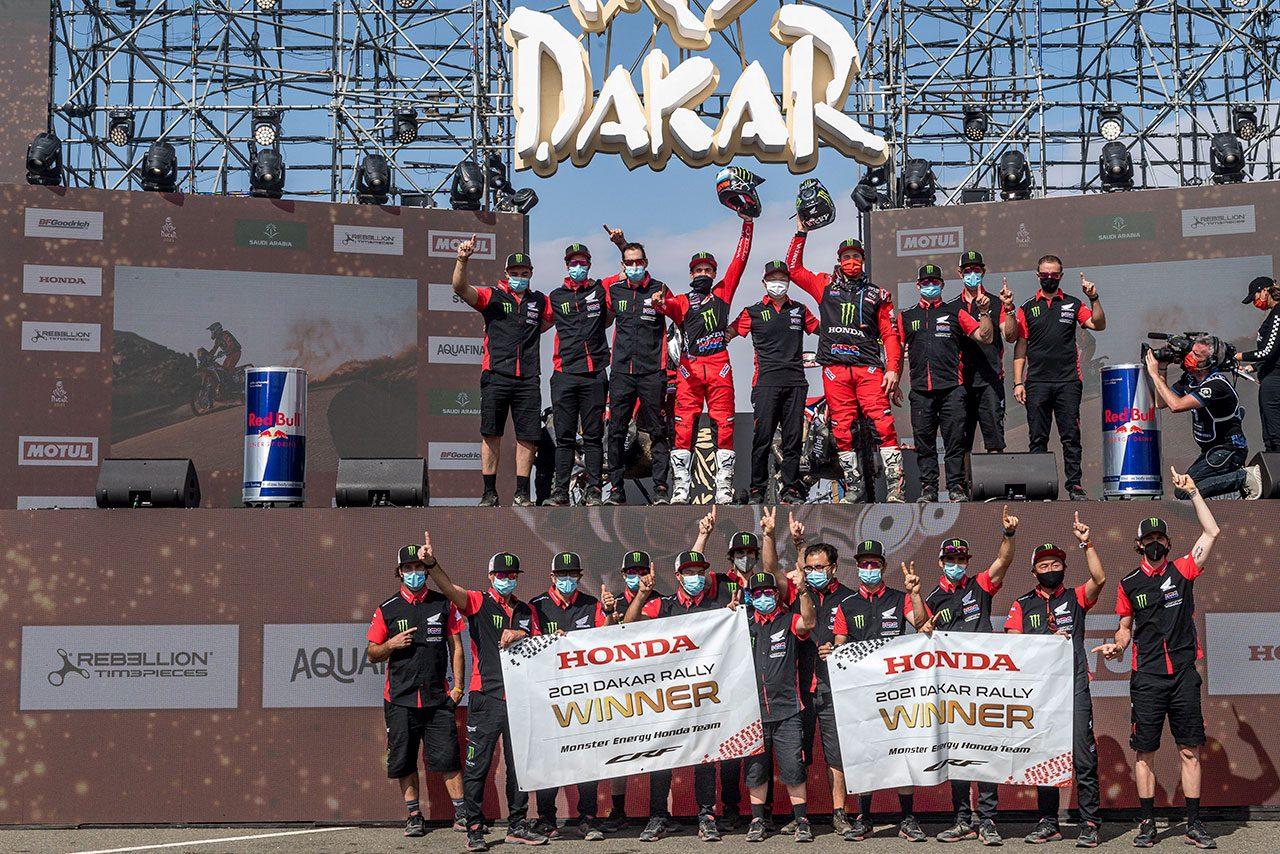 ダカールラリー2021でホンダがワン・ツー。総合優勝はケビン・ベナビデス、総合2位はリッキー・ブラベック