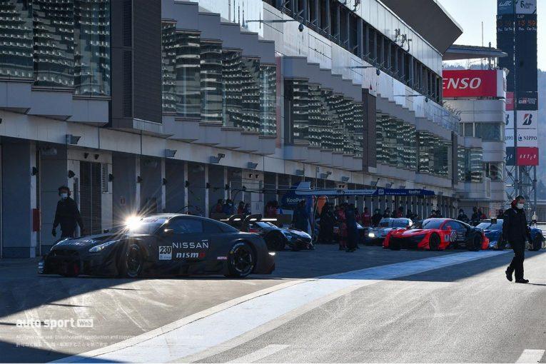 スーパーGT   スーパーGT:11台が参加し富士スピードウェイでGT500の3メーカー合同テストがスタート