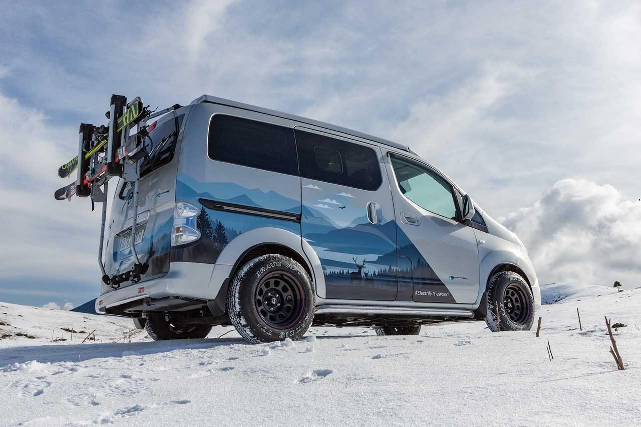 ニッサン、冬のアウトドアを充実させる『e-NV200ウインター・キャンパー・コンセプト』公開