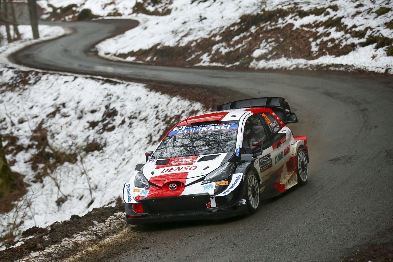 WRC開幕! モンカルロ初日首位は昨年、大クラッシュを喫したタナク。トヨタ勢が追随