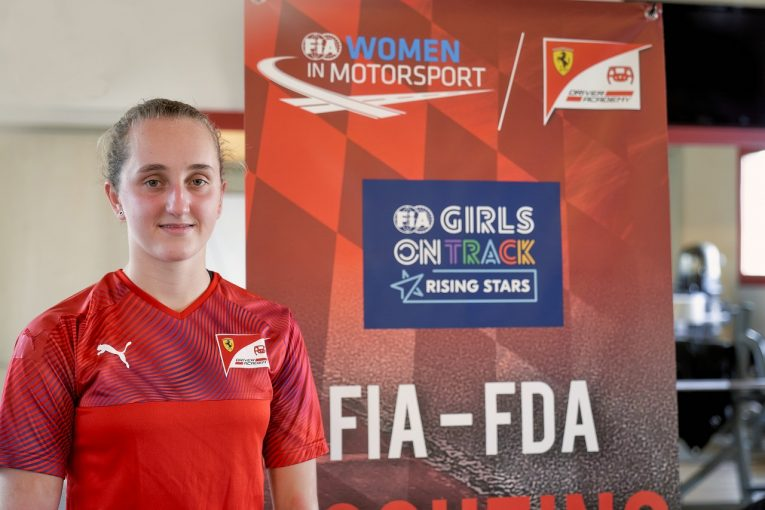 F1   フェラーリ若手育成プログラムに初の女性メンバー。FIA女性ドライバー支援プロジェクト初代優勝者の16歳カーター