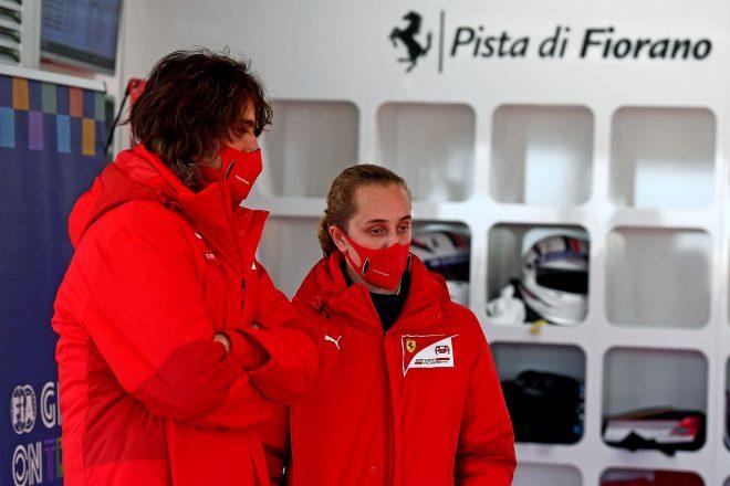 フェラーリ・ドライバー・アカデミー入りが発表されたマヤ・ウィーグ