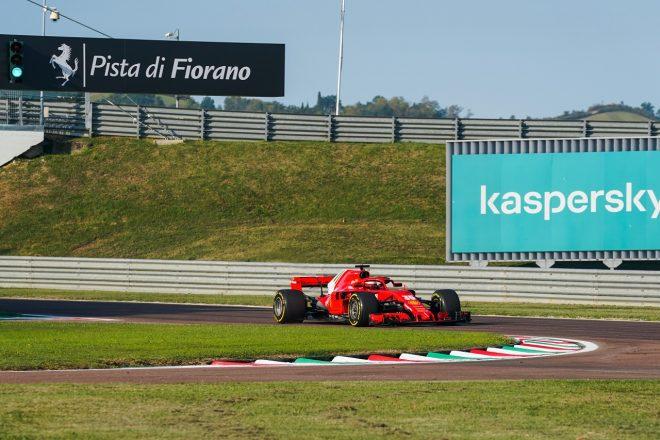 2020年にフィオラノで行われたFDAのテスト(フェラーリ2018年型SF71H)