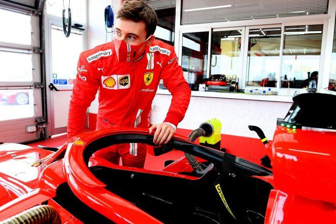 2021年1月フィオラノでのフェラーリF1テストに参加したマーカス・アームストロング