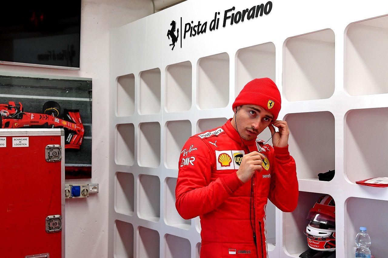 2021年1月フィオラノでのフェラーリF1テストに参加したシャルル・ルクレール