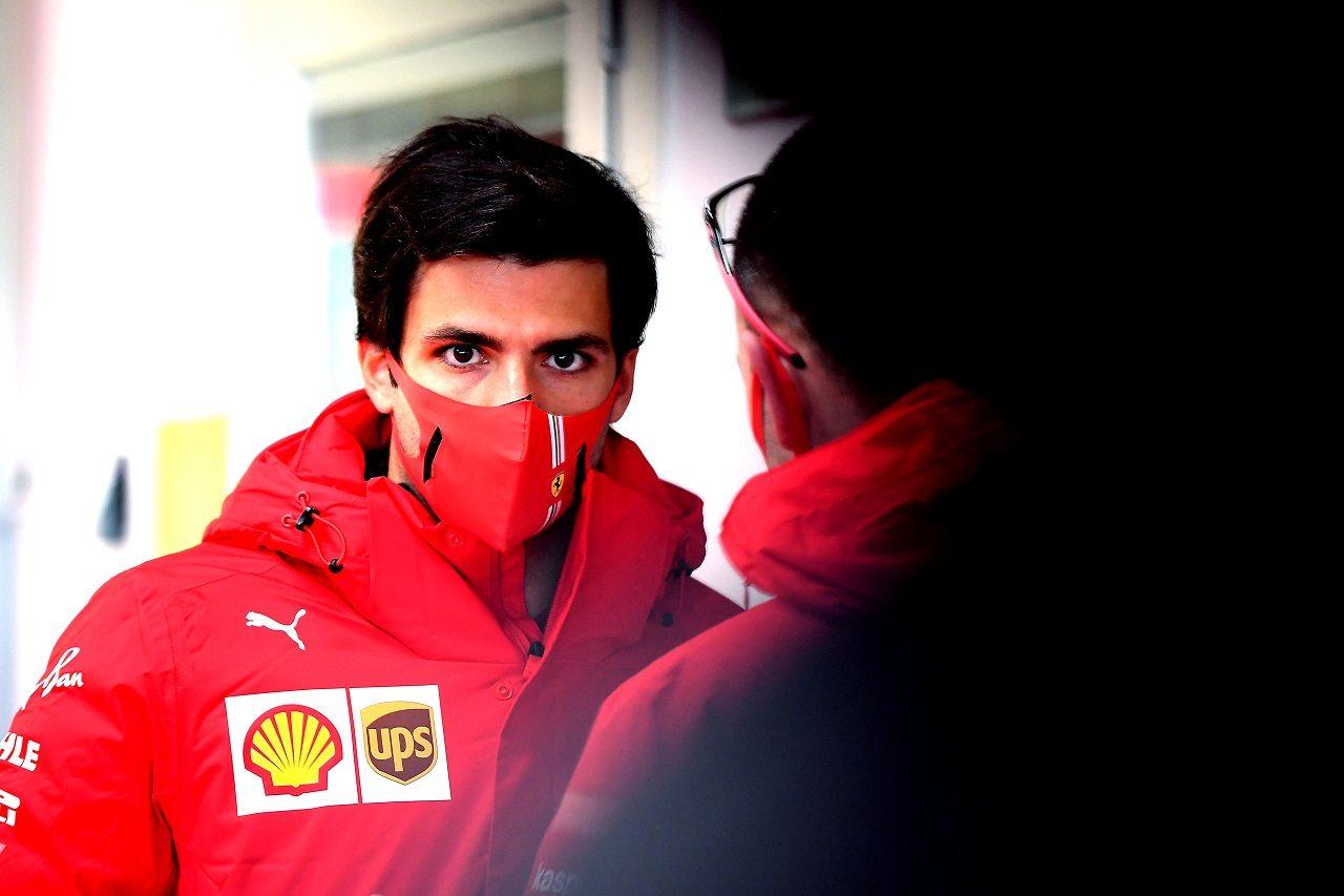 2021年1月フィオラノでのフェラーリF1テストに参加するカルロス・サインツJr.