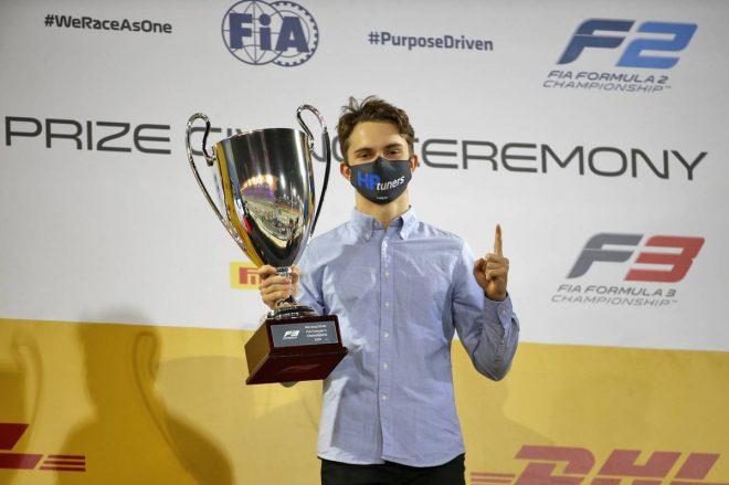 2020年のFIA-F3チャンピオンに輝いたオスカー・ピアストリ(プレマ・レーシング)