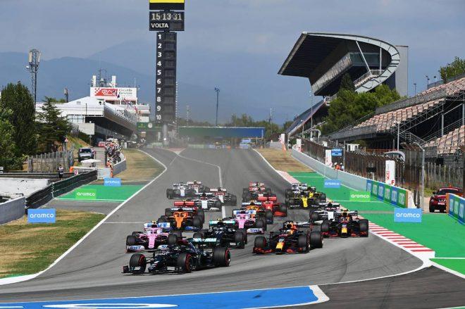 2020年F1第6戦スペインGP スタートシーン