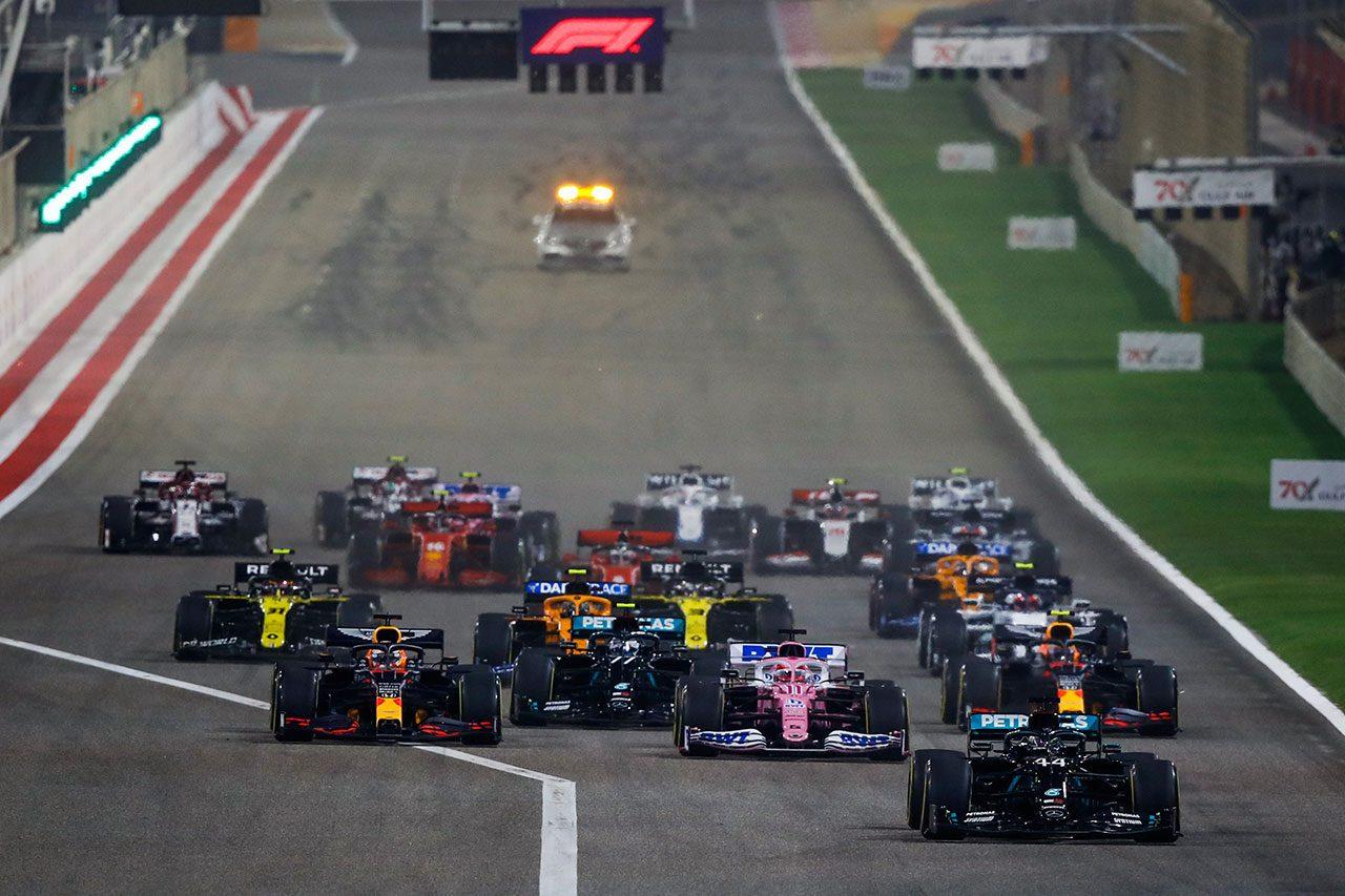 2020年F1第15戦バーレーンGP スタートシーン