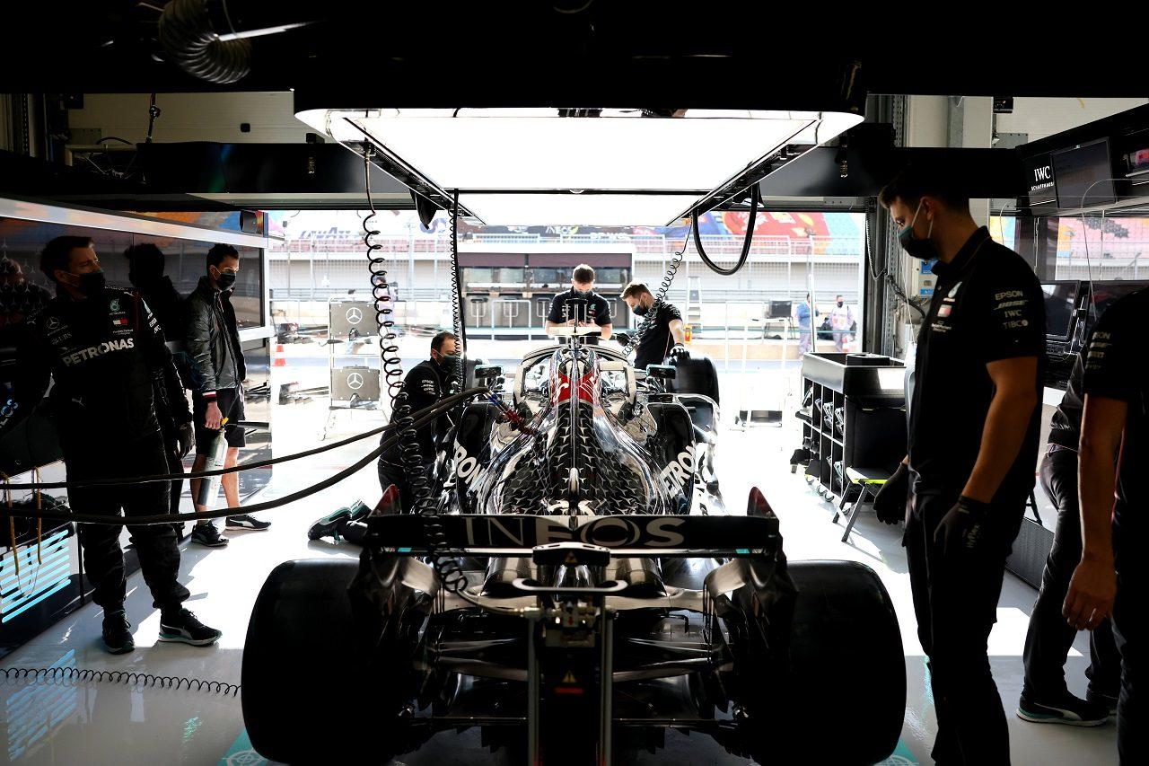 2020年F1トルコGP メルセデスF1チームのガレージ