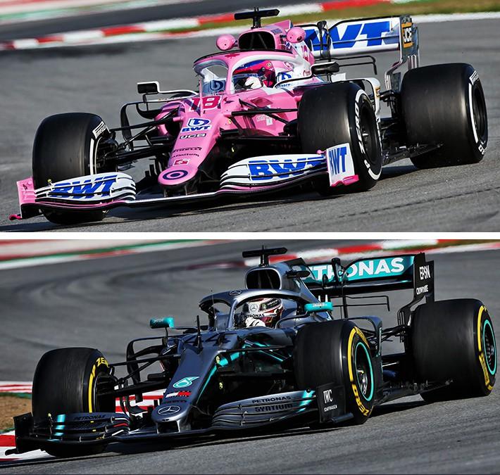 2020年型レーシングポイントRP20が2019年型メルセデスF1 W10に類似していることが問題視された