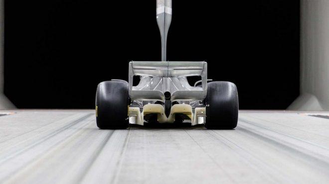2019年に公開された次世代F1マシンの風洞テストの様子