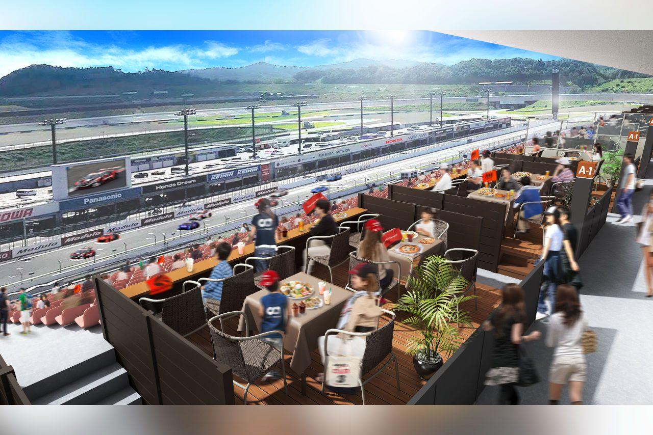 ツインリンクもてぎ、グループで快適なレース観戦を楽しめる新エリア『グランデッキ』設置