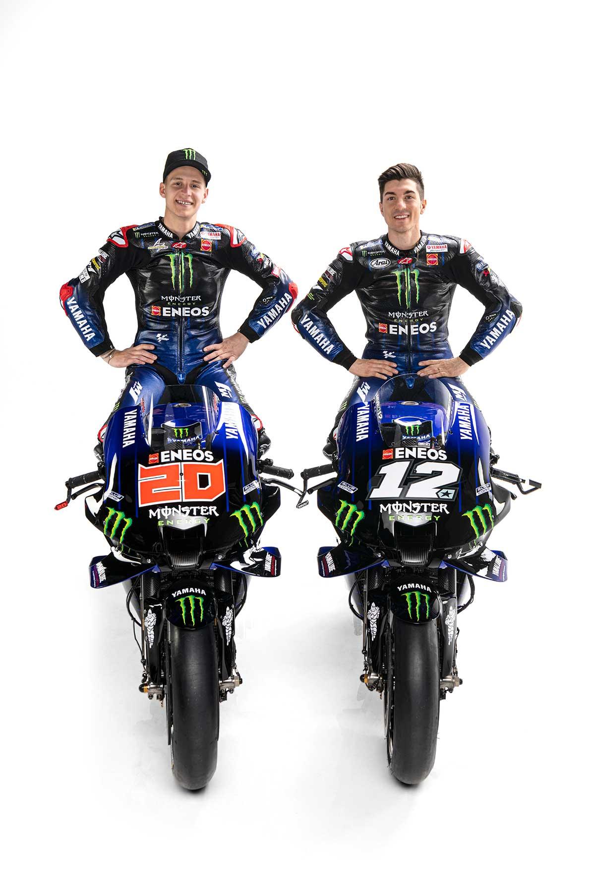 2021年MotoGP:マーベリック・ビニャーレス、ファビオ・クアルタラロ(モンスターエナジー・ヤマハMotoGP)