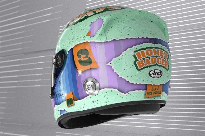 ダニエル・リカルドの2021年仕様ヘルメット