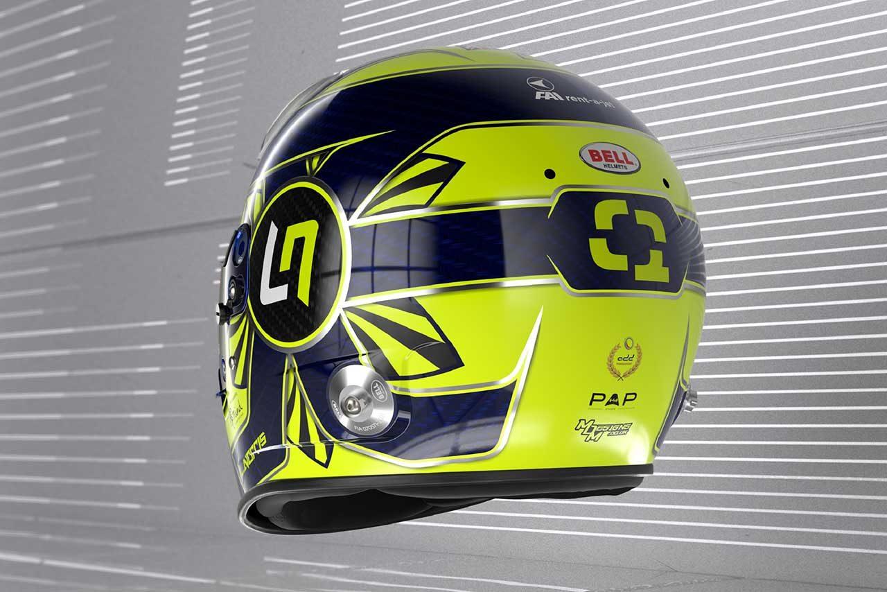 ランド・ノリスの2021年仕様ヘルメット