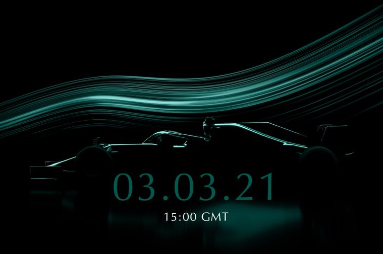 F1 | アストンマーティンF1、2021年型新車発表会を3月3日に開催。ベッテルも登場