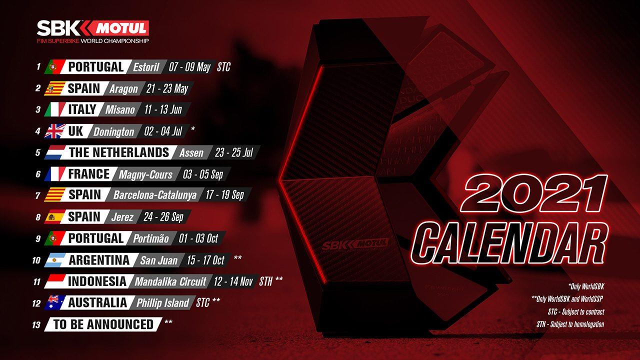SBK暫定カレンダー変更。4月の開幕戦オランダが鈴鹿8耐翌週の7月末に延期