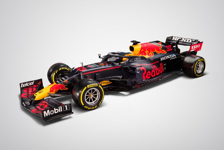 F1   レッドブル・ホンダF1が2021年の新車『RB16B』を発表。フェルスタッペン&ペレスのコンビでタイトルを目指す