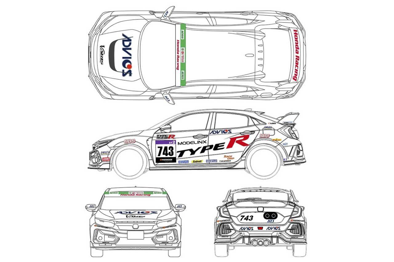 Honda R&D Challenge FK8の2021年シーズンのカラーリングイメージ
