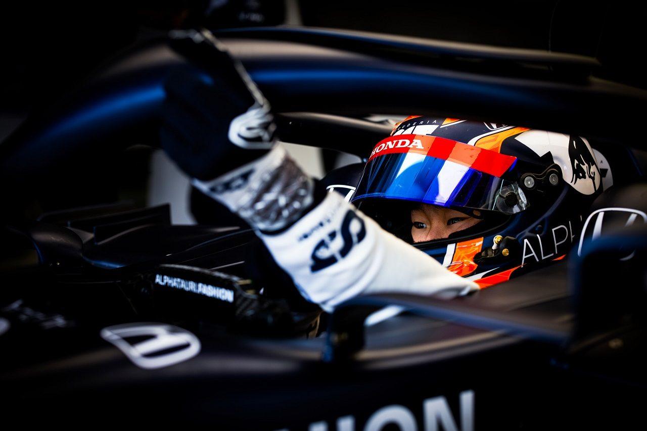 アルファタウリF1の2021年フィルミングデーでの角田裕毅