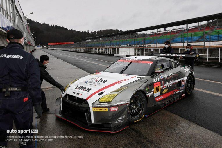 スーパーGT | 岡山でのGT3特別スポーツ走行に4台のGT300車両が参加。雨のなか走行を重ねる