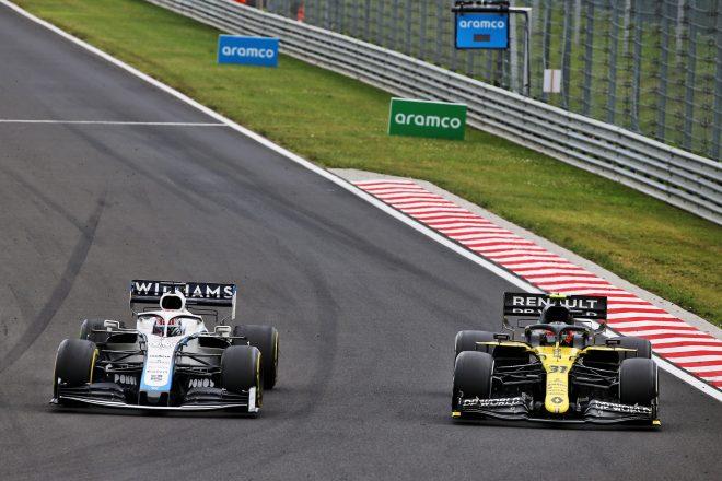 2020年F1第3戦ハンガリーGP ジョージ・ラッセル(ウイリアムズ)、エステバン・オコン(ルノー)