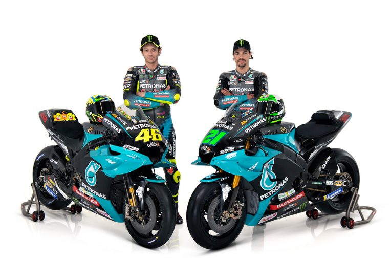 MotoGP | ロッシ&モルビデリの師弟コンビが2021年型『YZR-M1』初公開。ペトロナス・ヤマハSRTがMotoGP体制発表