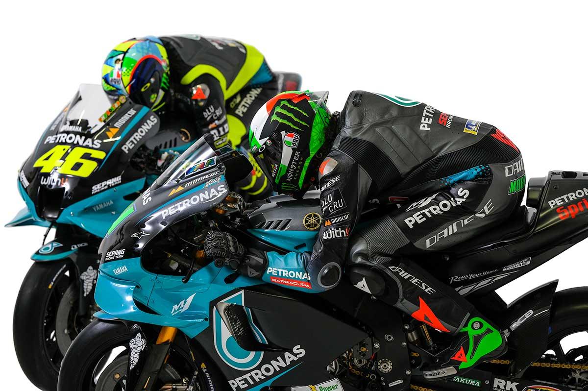 2021MotoGP:バレンティーノ・ロッシとフランコ・モルビデリ(ペトロナス・ヤマハSRT)