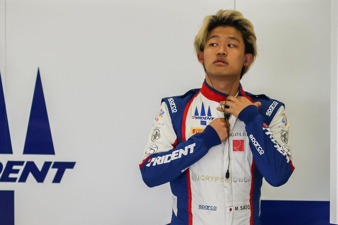 2020年FIA-F2選手権に参戦した佐藤万璃音(トライデント)