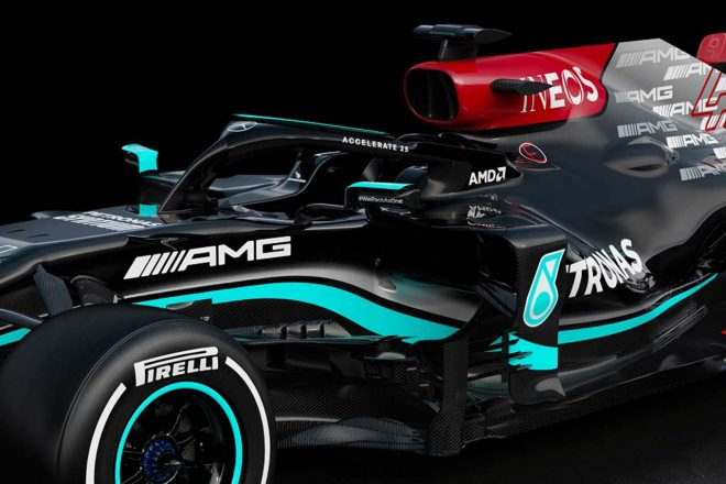 メルセデスの2021年型マシン『W12』