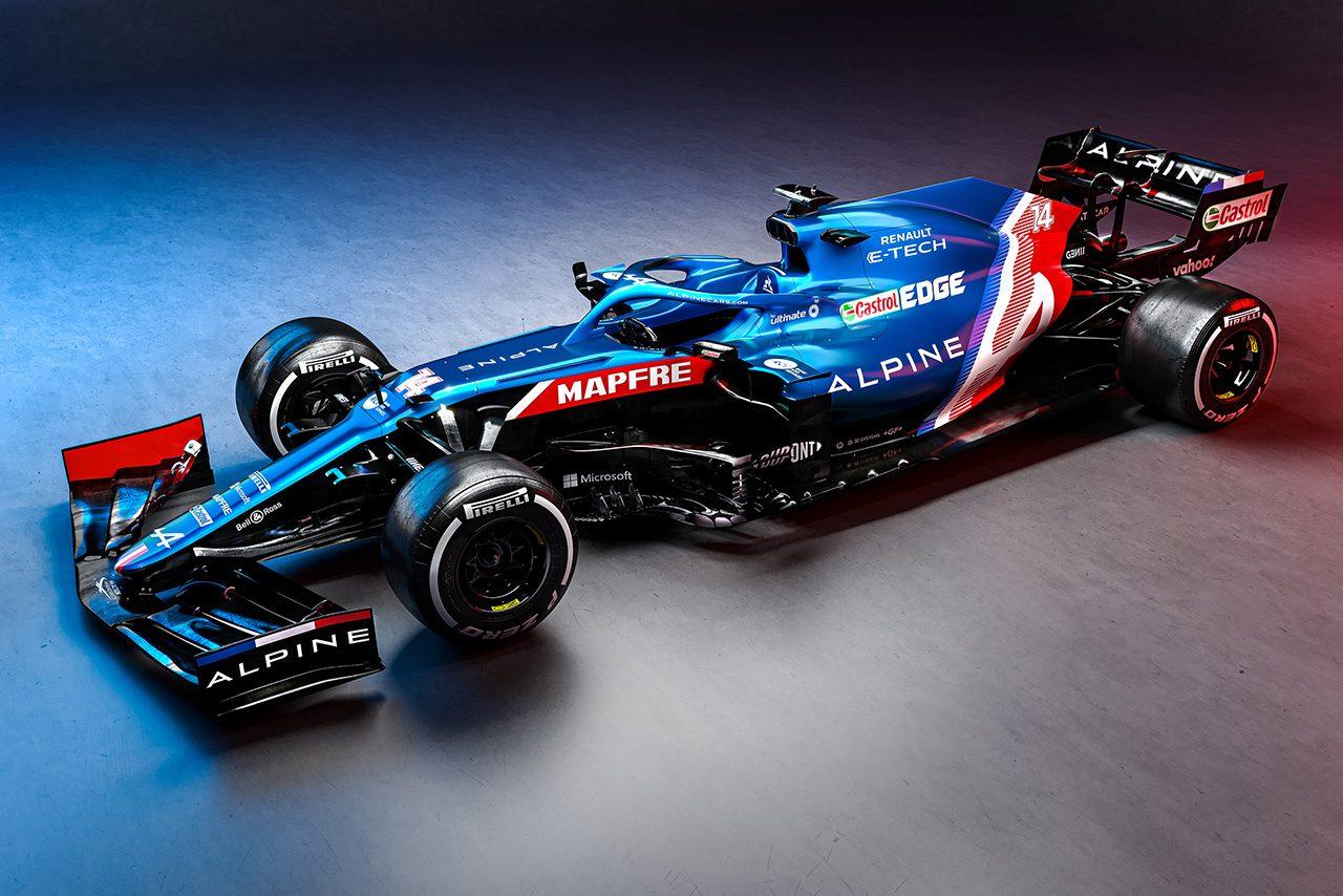 F1 | 新生アルピーヌF1チーム、2021年型マシン『A521』を初披露。復帰のアロンソ&オコンのペアで中団トップを狙う