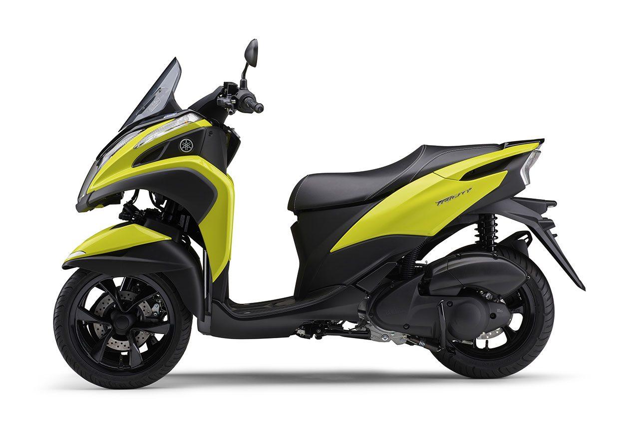 ヤマハ、TRICITY 125/ABSの2021年モデルに新色イエローを採用して4月8日に発売