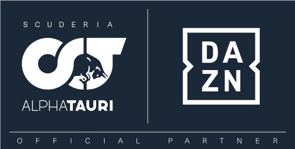 アルファタウリ・ホンダとDAZNのパートナーシップロゴ