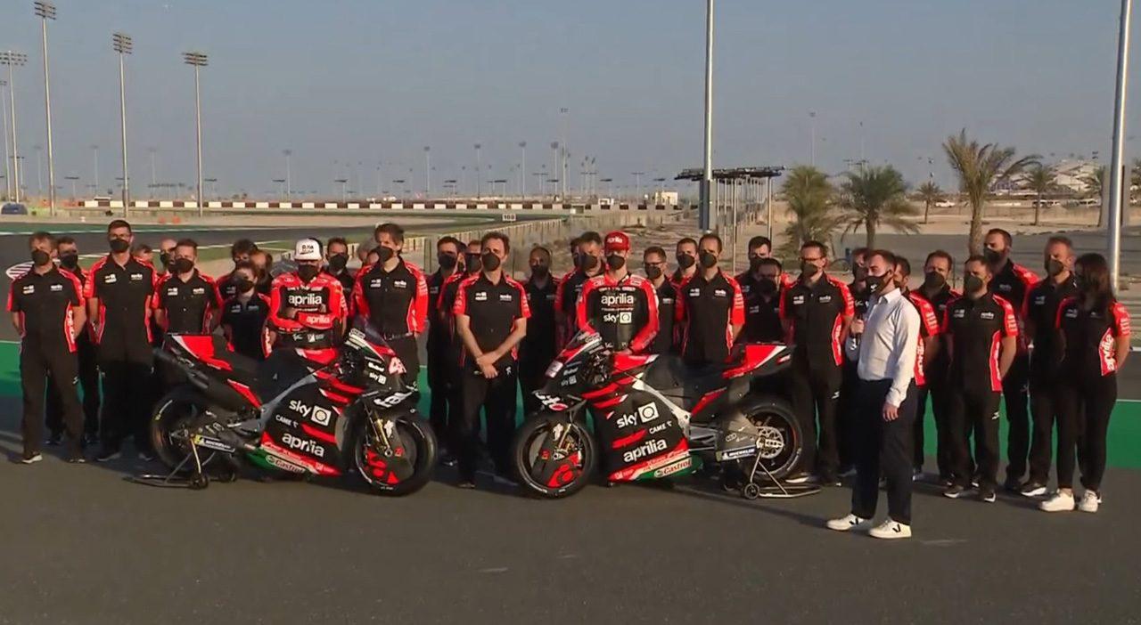 アプリリアが2021年型RS-GPをお披露目。グレシーニ・レーシングとのコラボはラストイヤー/MotoGP